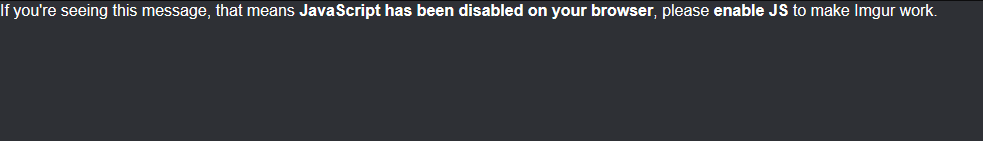 Imgur JavaScript has been disabled message